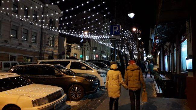 Новый год, иллюминация, Владивосток, праздник