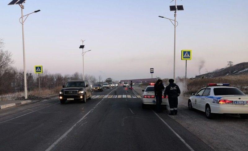 Сбили человека, ДТП. Фото - пресс-служба ОМВД России по городу Уссурийску