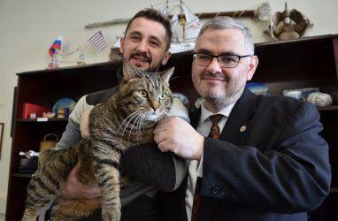 Толстый кот Виктор обогнал американского консула в сгонке веса