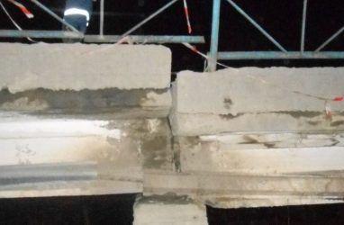 В Приморье частично обвалился важный мост
