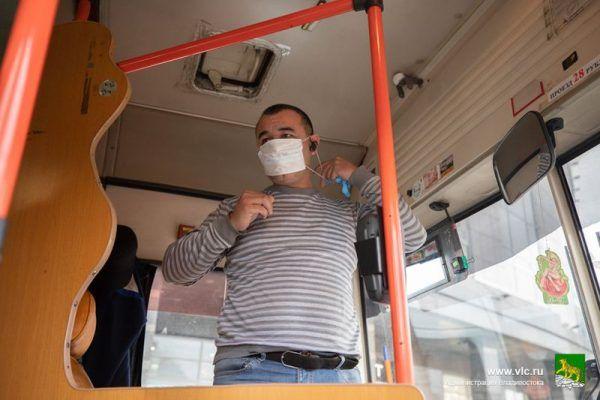 Водитель, маска, коронавирус, автобус