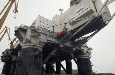 В Приморье прибыла огромная стартовая платформа плавучего космодрома «Морской старт»