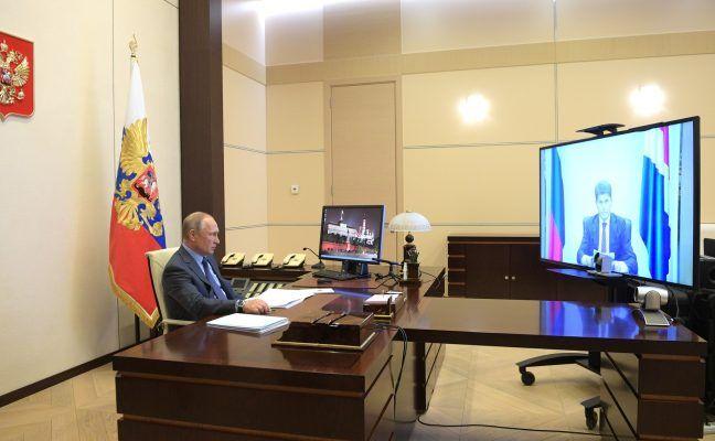 Владимир Путин и Олег Кожемяко