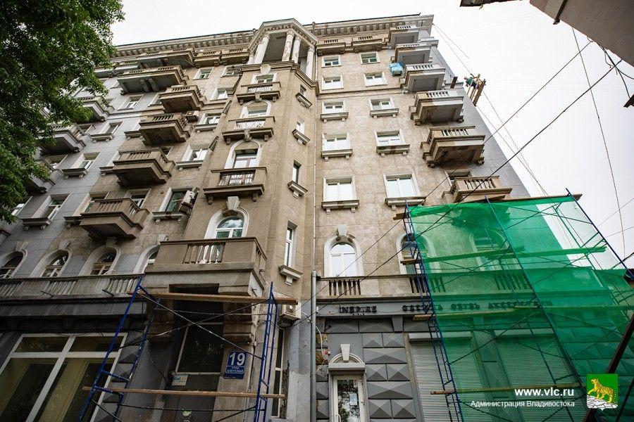 Серая лошадь, историческое здание, ремонт здания. Фото - Анастасия Котлярова