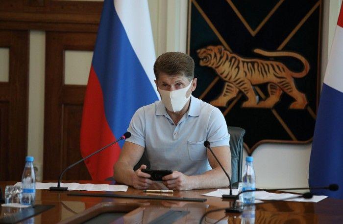 Олег Кожемяко, губернатор Приморья. Фото -  Игорь Новиков (правительство Приморского края)