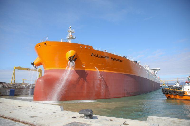 Первый танкер типа «Афрамакс» «Владимир Мономах». Фото - Игорь Новиков (правительство Приморского края)