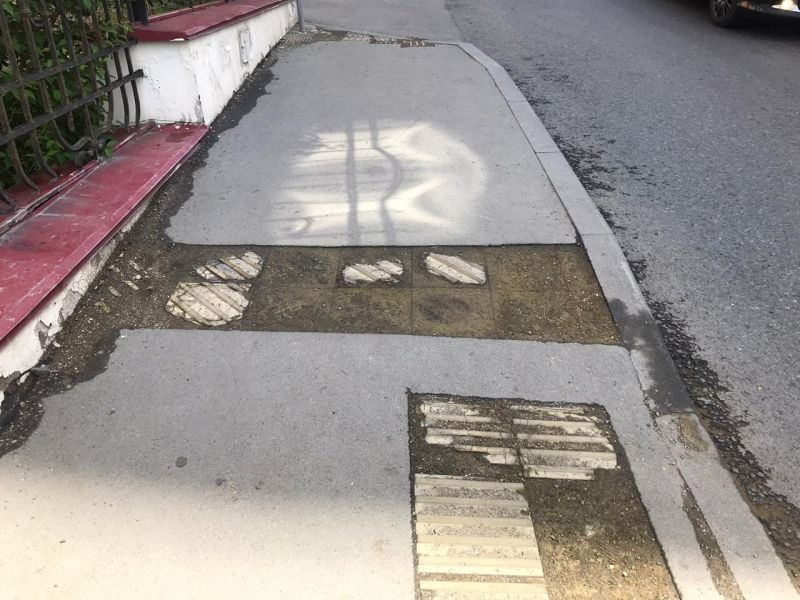 Асфальт, тротуар, дорога, плохой ремонт дорог. Фото - пресс-служба ОНФ