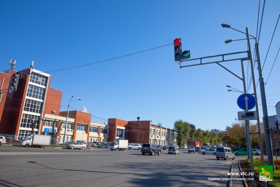 Новый светофор в районе «Примводоканала». Фото - Анастасия Котлярова