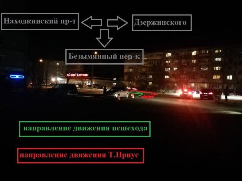 ДТП, сбили девушку. Фото - пресс-служба УГИБДД УМВД России по Приморскому краю
