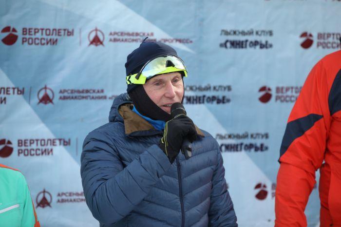 Олег Кожемяко на лыжном марафоне. Фото - Игорь Новиков (правительство Приморского края)