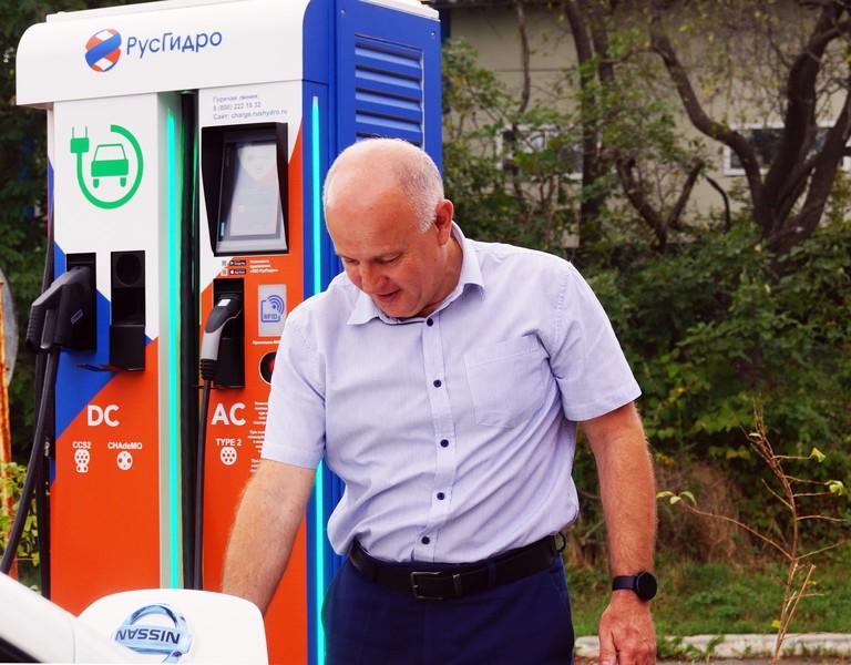 Зарядная станция для авто, РусГидро
