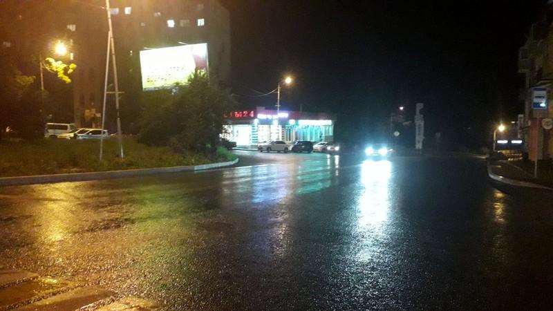 Дождь, ночь, вечер, дорога