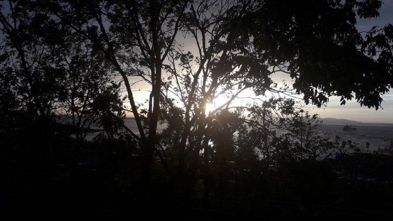 Закат, осень